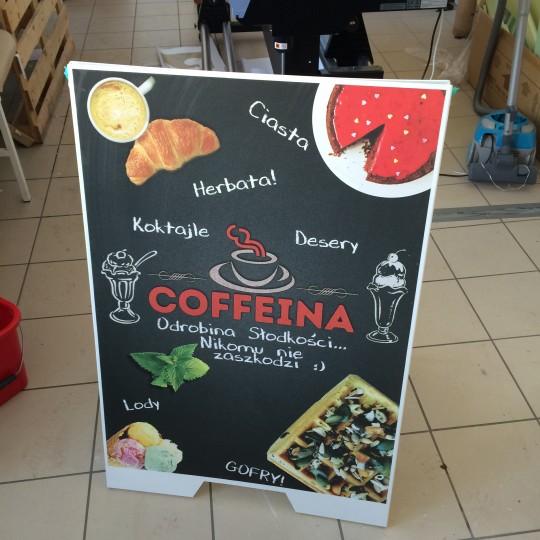 Potykacze reklamowe – Cofeina Polanica Zdrój